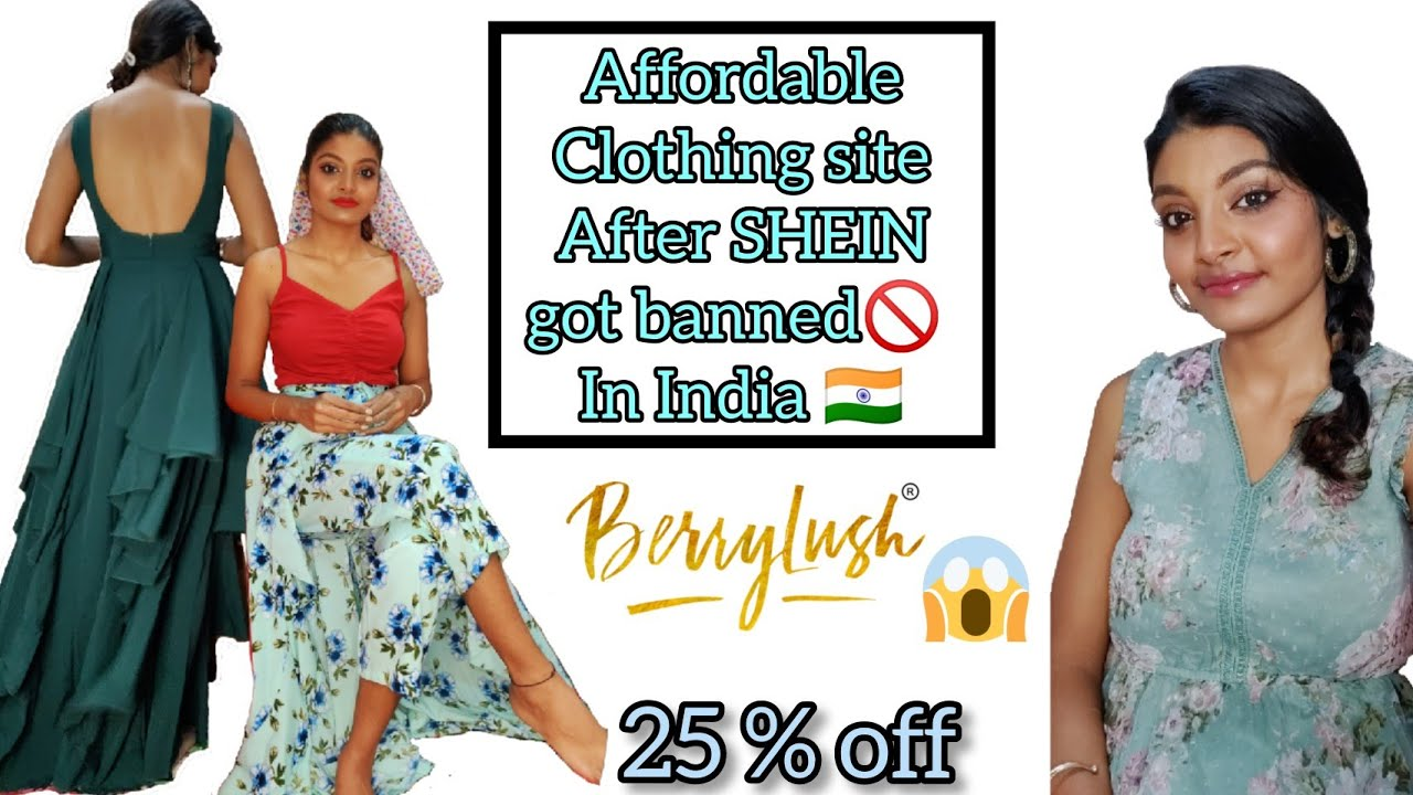Best* clothing site after SHEIN ✨ got banned 🚫in INDIA🇮🇳 || FLAT 25% off || BERRYLUSH ❤️