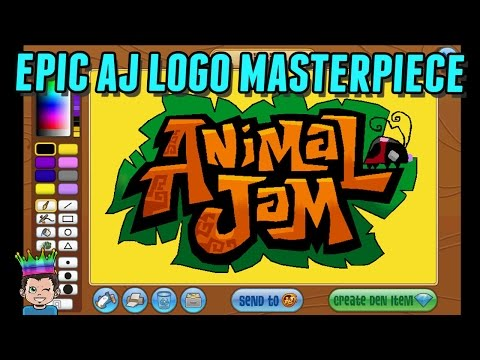 THE MOST EPIC -  Animal Jam Logo Masterpiece In Paint | Shopking