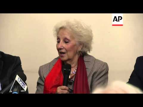 Leader of Argentina's Grandmother sof Plaza de Mayo hold news briefing