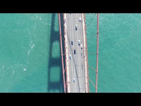 Sanfrancisco Golden Gate Bridge 4Kdrone view
