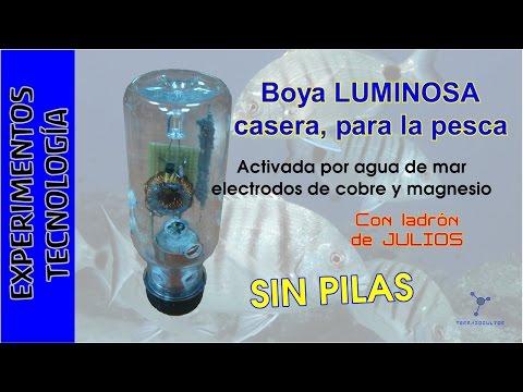 #Pesca BOYA Luminosa CASERA, SIN PILAS