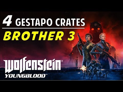 Location & Codes Of All Brother 3 Gestapo Crates | Wolfenstein Youngblood (Red Crates Guide)
