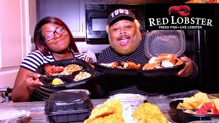 RED LOBSTER MUKBANG (EATING SHOW)