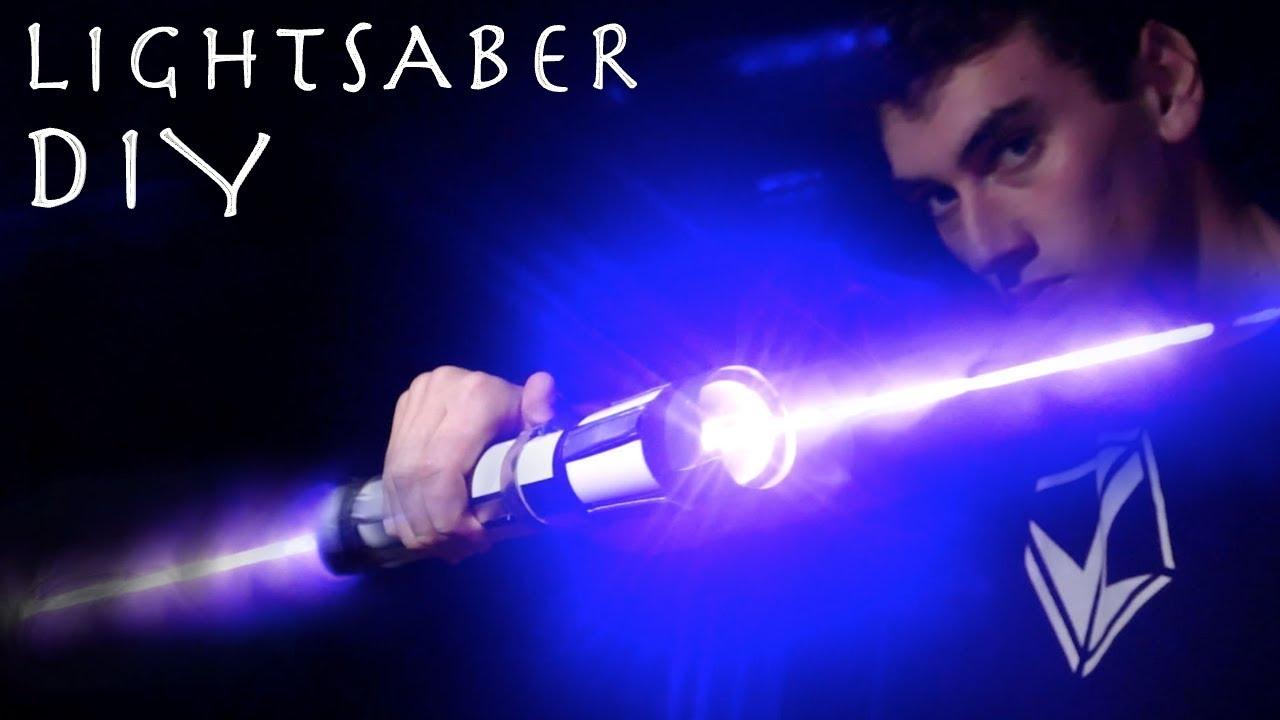 Make a Double Bladed Lightsaber!!! (REAL BURNING LASER LIGHTSABER)