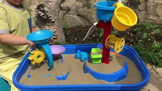 Игра для детей в песочнице. ВЛОГ ПЕСОЧНИЦА ОБЗОР