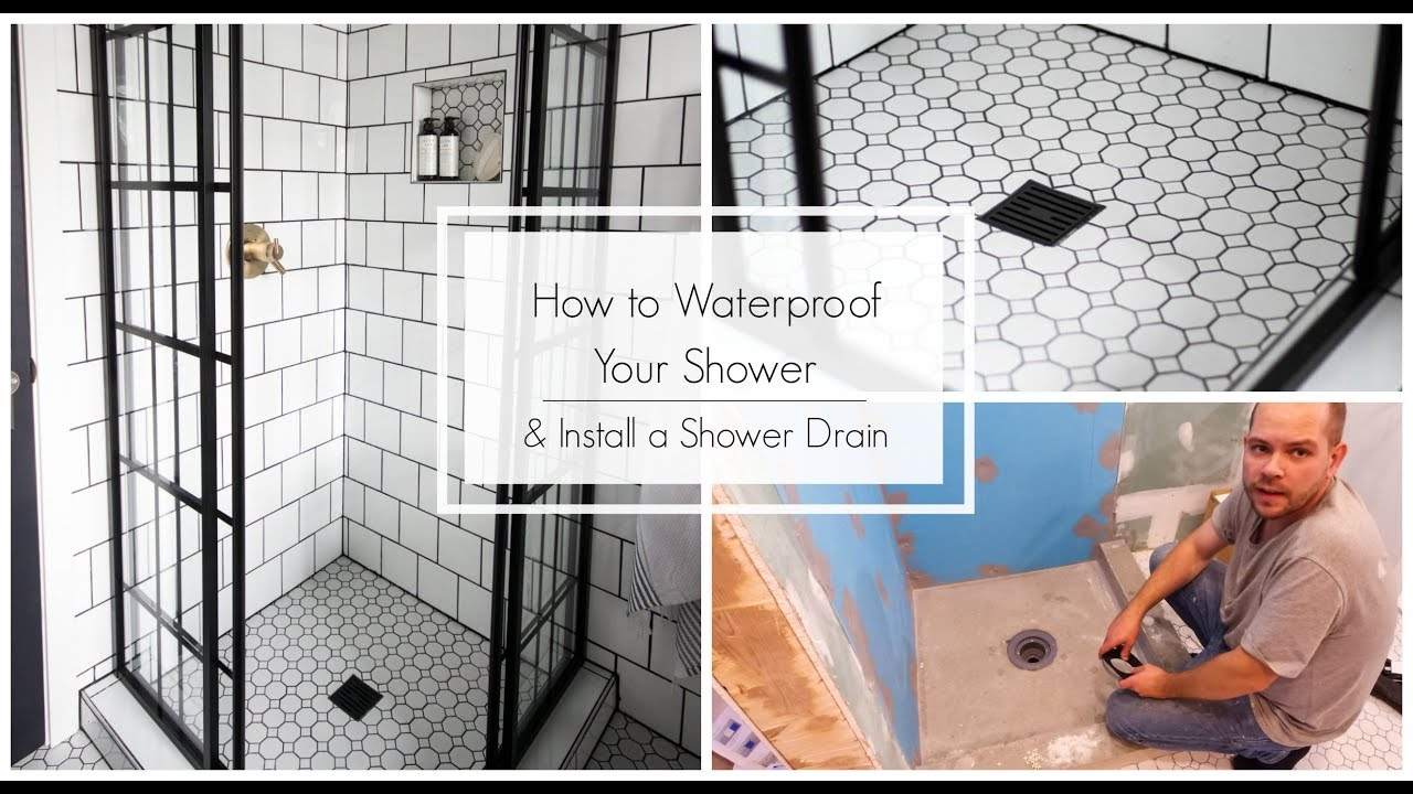 How To Waterproof Your Shower Install Your Drain Youtube