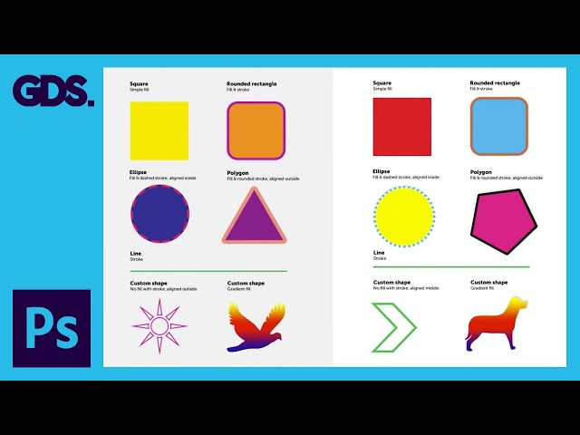 Shape tool in Adobe Photoshop Ep14/33 [Adobe Photoshop for Beginners]