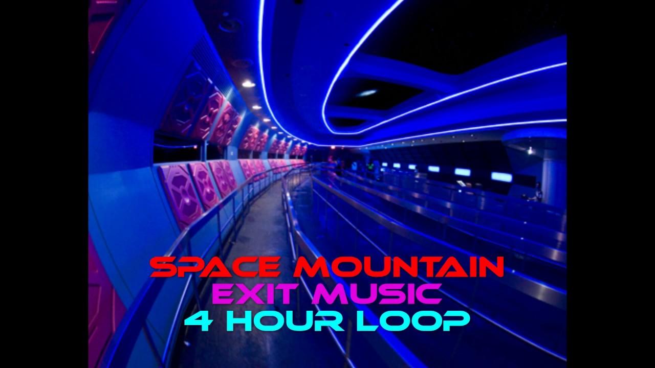 Space Mountain Exit Music ~ 4 Hour Loop ~ Queue Soundtrack ...