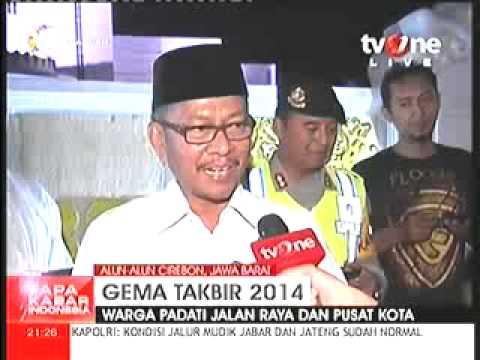 Gema Takbir 2014 Di Alun Alun Cirebon Youtube