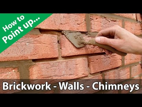 How to Point a Brickwork Wall or Repoint a Chimney
