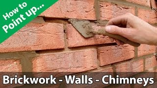 How to Point a Brickwork Wall or Repoint a Chimney thumbnail