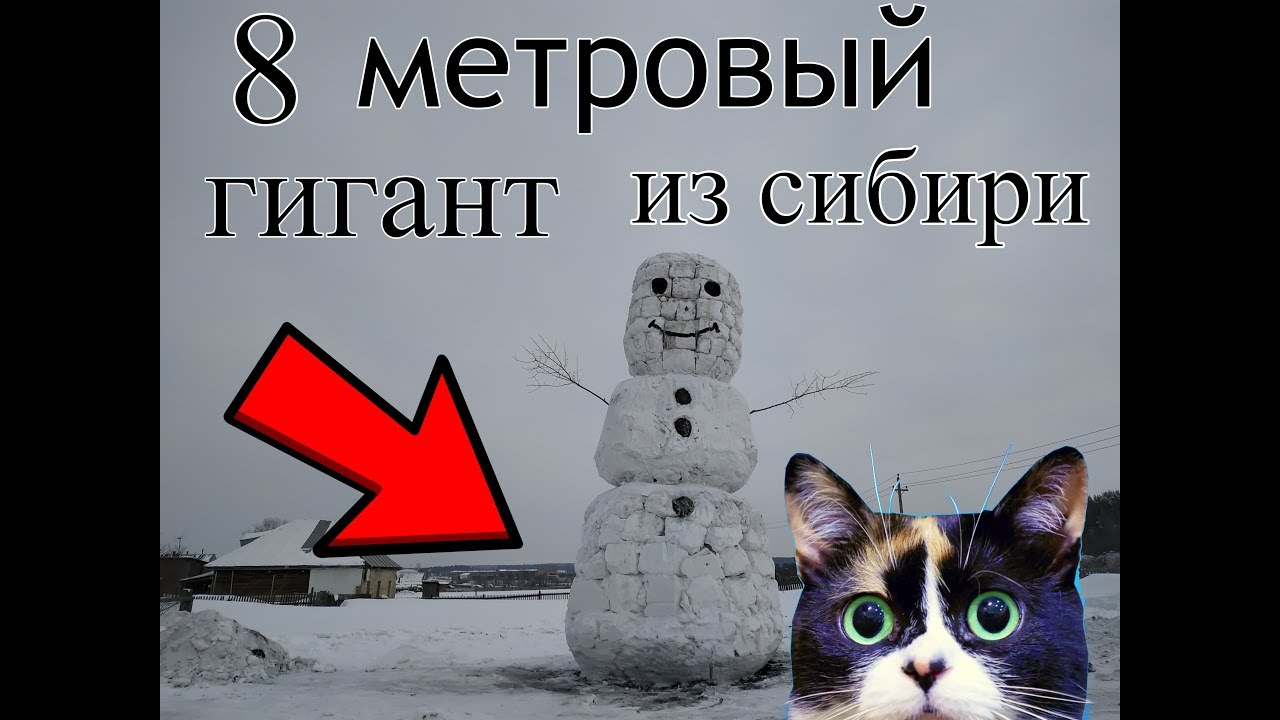 Снеговик из сибири 8 метров. #100КЗАСНЕГОВИКА  #SLIVKISHOW