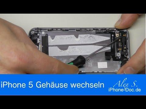 IPhone 5S Backcover, Gehäuse, Rückseite wechseln, tauschen, umbauen, Deutsch, reparieren