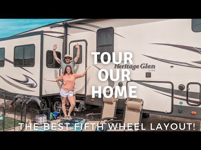 Tour Our New Home |  Forest River Wildwood Glen Fifth Wheel Tour | Camper Tour