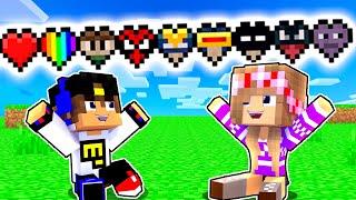 Майнкрафт но КАЖДОЕ СЕРДЦЕ Даёт СУПЕРГЕРОЙ СИЛУ Девушка НУБ И ПРО Видео Троллинг Minecraft