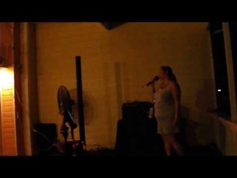 """Me singing """"Jose Quervo"""" at karaoke in Florida"""