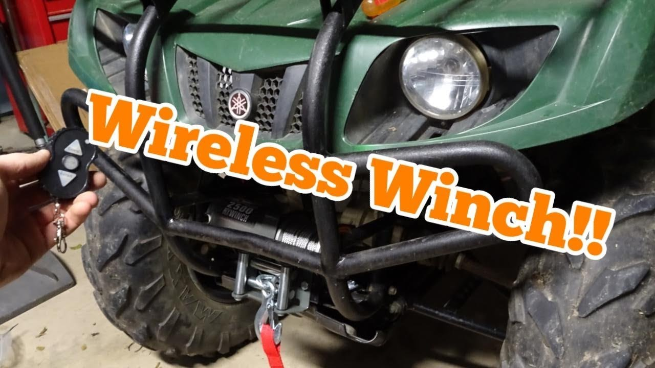 yamaha grizzly bruin 350 winch install [ 1280 x 720 Pixel ]