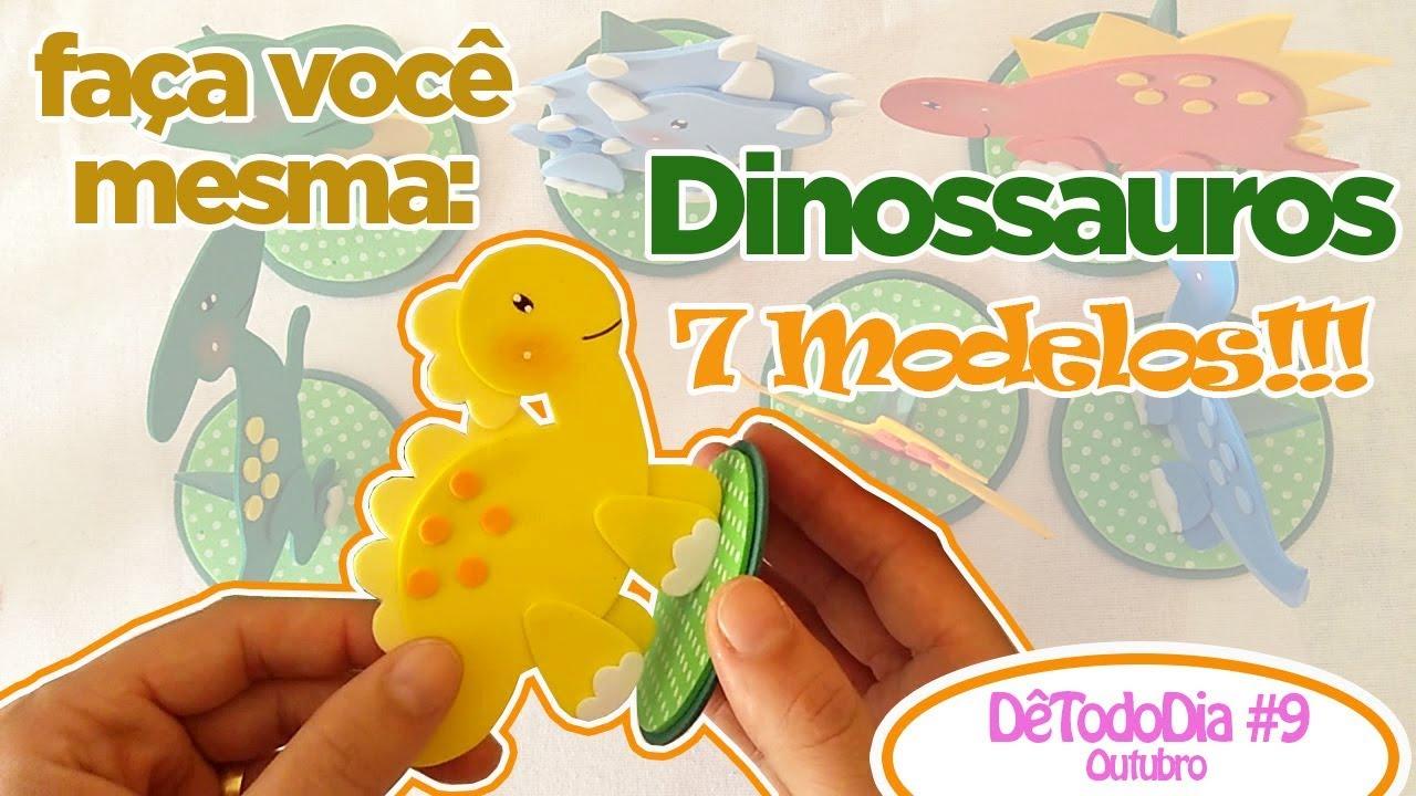Como Fazer Dinossauros 07 Modelos Detododia 9outubro