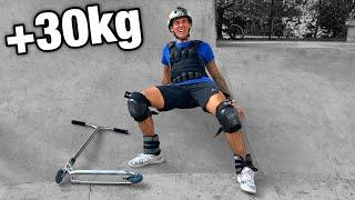 1H SANS S'ARRÊTER AVEC 30 KILOS EN PLUS (Challenge skatepark)