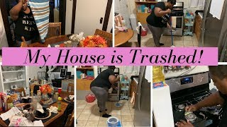 MY HOUSE IS TRASHED! EXTREME CLEANING // CLEAN WITH ME // 5 KIDS WITH WORKING MOM