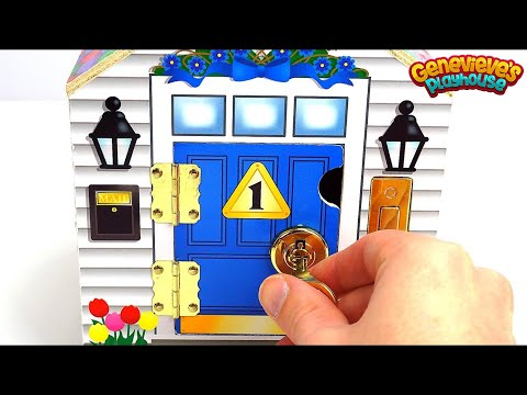 Learn Colors and Numbers with Cute Locking Dollhouse for Kids!