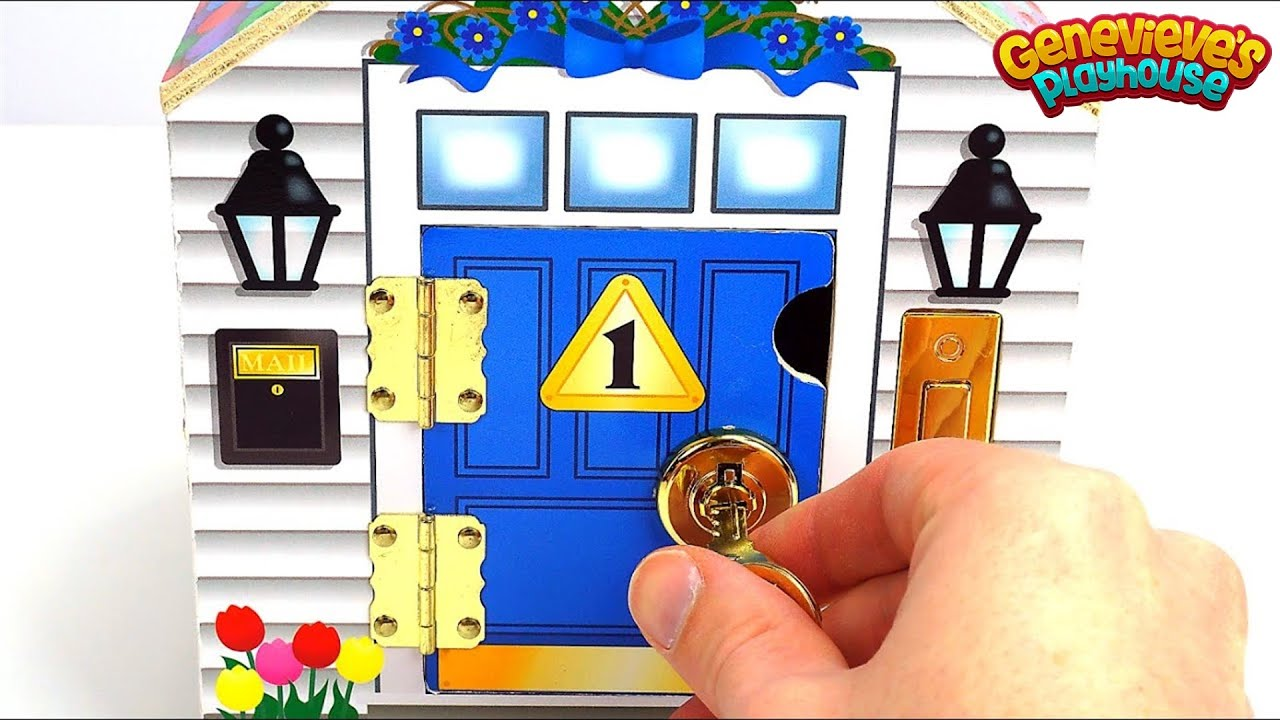 sc 1 st  YouTube & Learn Colors and Numbers with Cute Locking Dollhouse for Kids! - YouTube