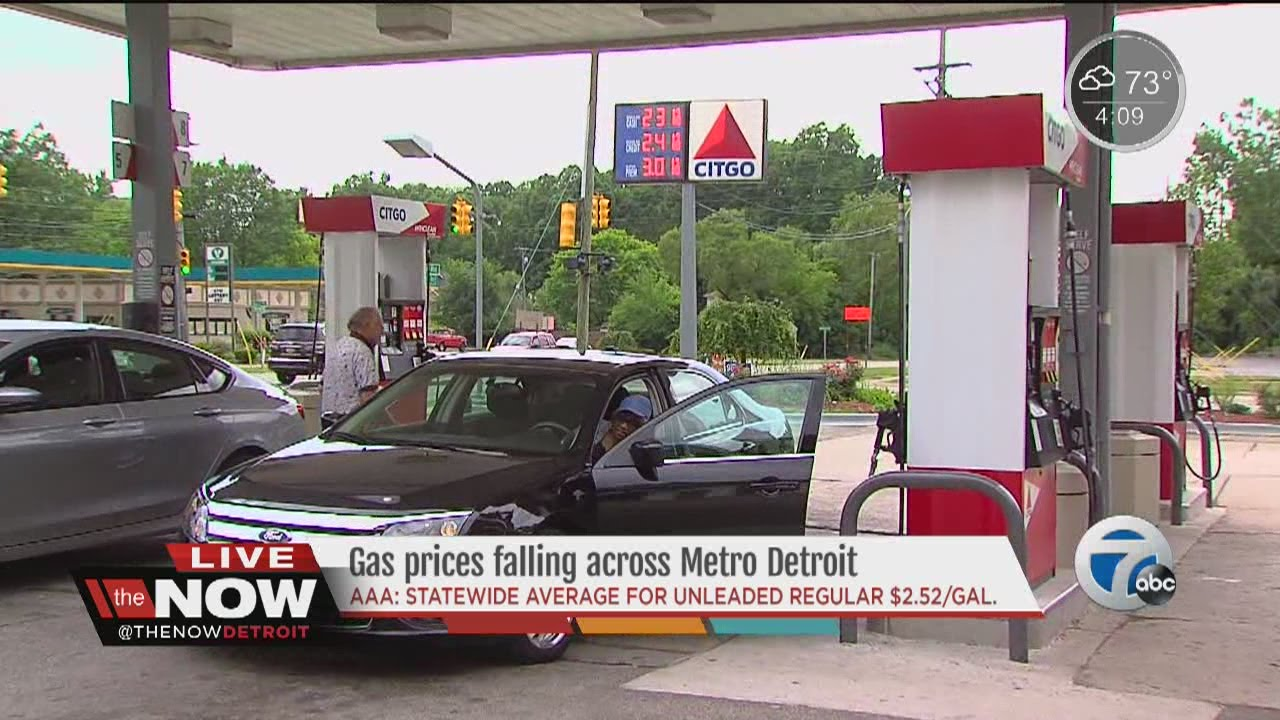 Detroit Gas Prices >> Falling Gas Prices Across Metro Detroit Youtube