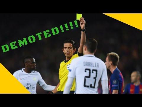 Referee Of Barcelona Vs PSG 6 - 1 Match Deniz Aytekin  Could be Demoted
