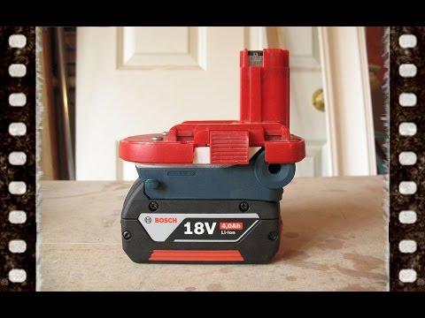 Bosch Lithium Ion 18v Battery Adaptor DIY NiMH Power Tool vs NiCd NiCad Li Drill Jigsaw Driver