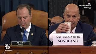 WATCH: Rep. Schiff's full opening statement in Gordon Sondland hearing | Trump impeachment hearings