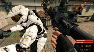 Counter Strike Source Classic Survival zombie mod online gameplay on Italy map