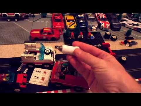 Building a Lego Scalextric Slot Car, using Lego motors and tyres