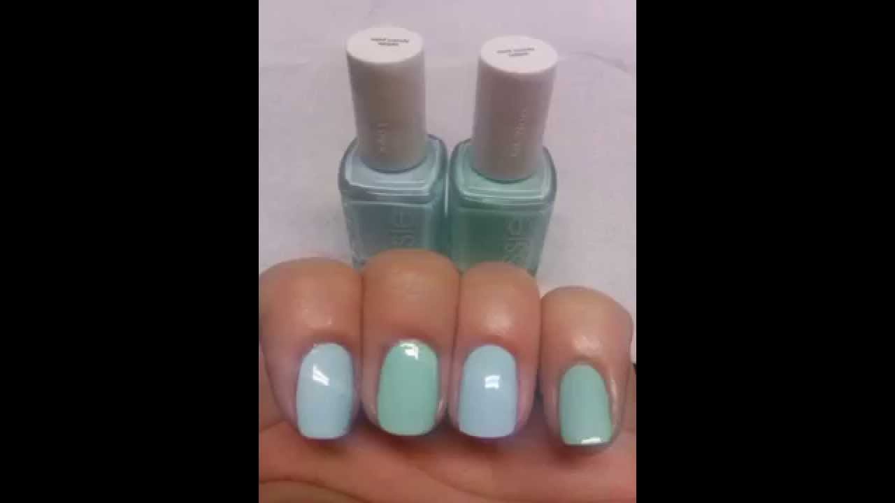 Essie Mint Candy Apple ( 2 shades of one polish) ? - YouTube
