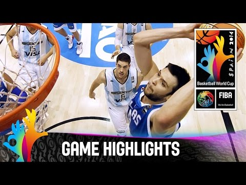 Argentina v Greece - Game Highlights - Group B - 2014 FIBA Basketball World Cup
