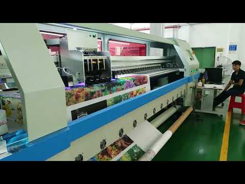 3D effect advertising roll to roll uv printing machine with high resolution