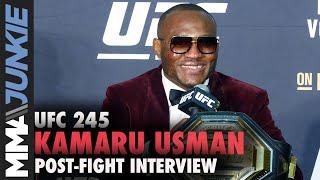 UFC 245: Kamaru Usman post fight interview
