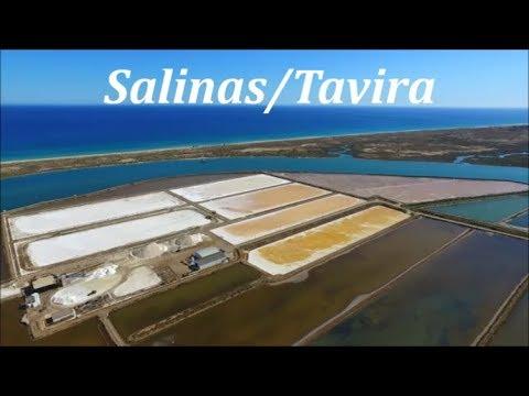 Salinas/Tavira - Recolha do Sal ««Vista Aérea - Aerial View»»