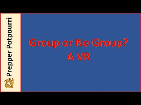 Group or No Group? a VR