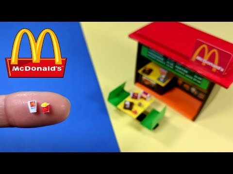 DIY Miniature Retro McDonalds Restaurant & Mini Fries, Burgers, & Chicken Nuggets!