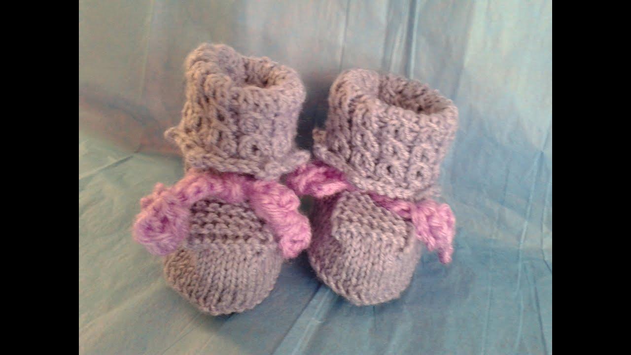 Como tejer lindos zapatitos para bebe paso a paso a dos - Tejidos en dos agujas paso a paso ...