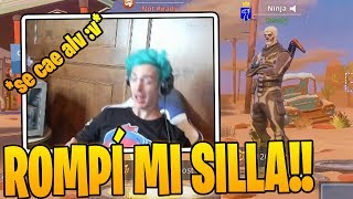 Ninja ENOJADO Casi *ROMPE* SU SILLA Por Este Nuevo Truco de Fortnite