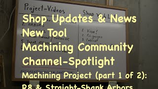 Shop Update #1: Updates, New Tool Show & Tell, Turning R8 & Straight Arbors (part 1)