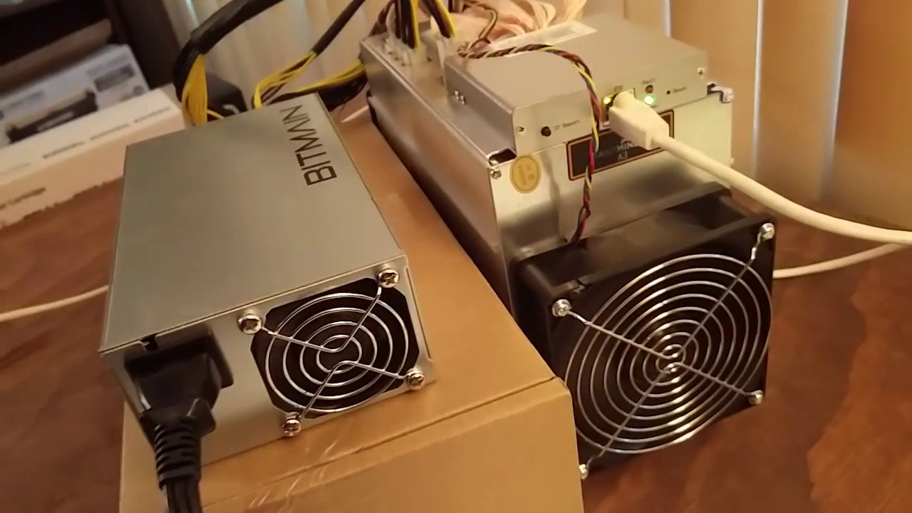 Bitmain AntMiner A3 - Powering Up