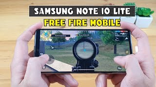 Samsung Note 10 Lite test game Free fire mobile