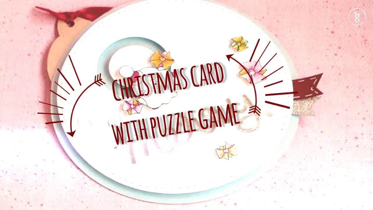 interactive christmas card with puzzle game - YouTube