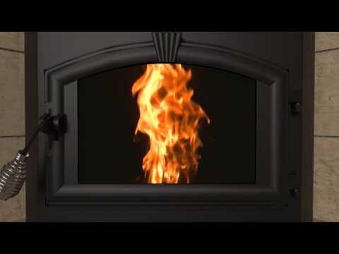 Quadra Fire 174 Castile Pellet Stove Fire Adjustment Video