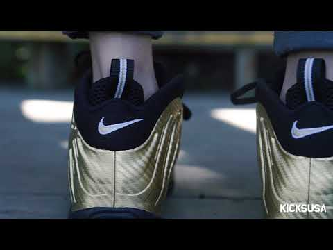 Nike Air Foamposite Pro 'Metallic Gold' ON FOOT Review | Kicks and Fits