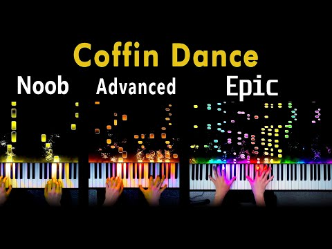 5 Levels Of Coffin Dance: Noob To Epic (Piano)