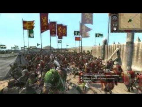 Medieval II: Total War Milan Vs. England Siege Battle /w Commentary