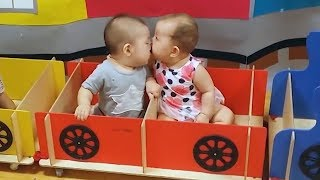 Funny babies kissing Compilation 2018